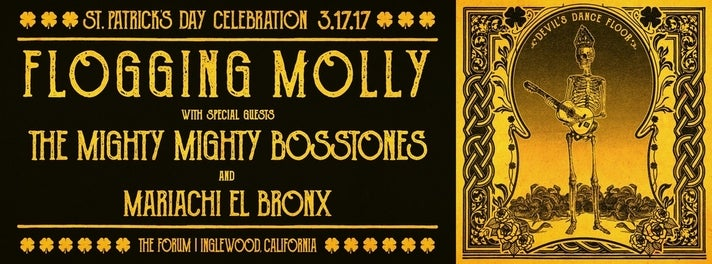 Flogging Molly St. Patrick's Day concert at The Forum