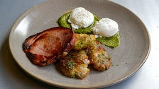 Olympia Provisions ham and poached eggs at Local Kitchen & Wine Bar